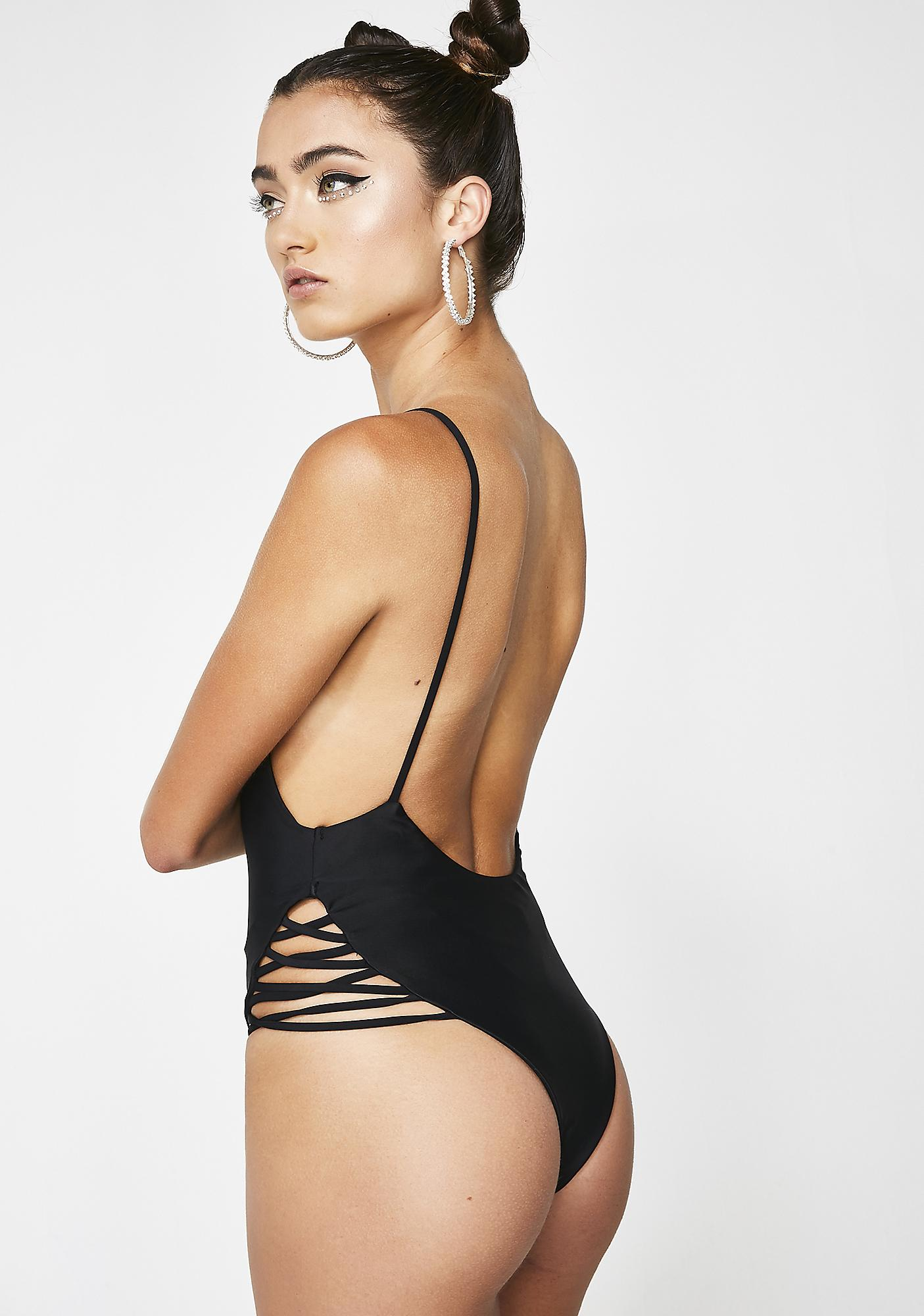 Ridin Round Backless Bodysuit