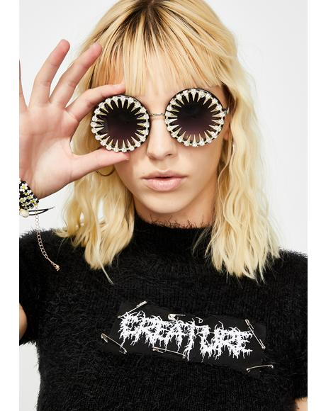 Kaleidoscope Eyes Round Sunglasses