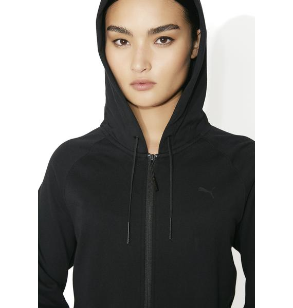 PUMA Heather Mesh Full Zip Hoodie