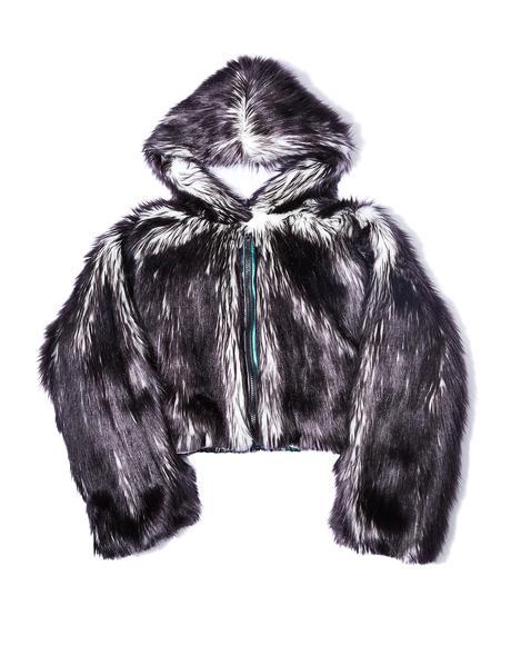 Volcanic Light-Up Faux Fur Jacket