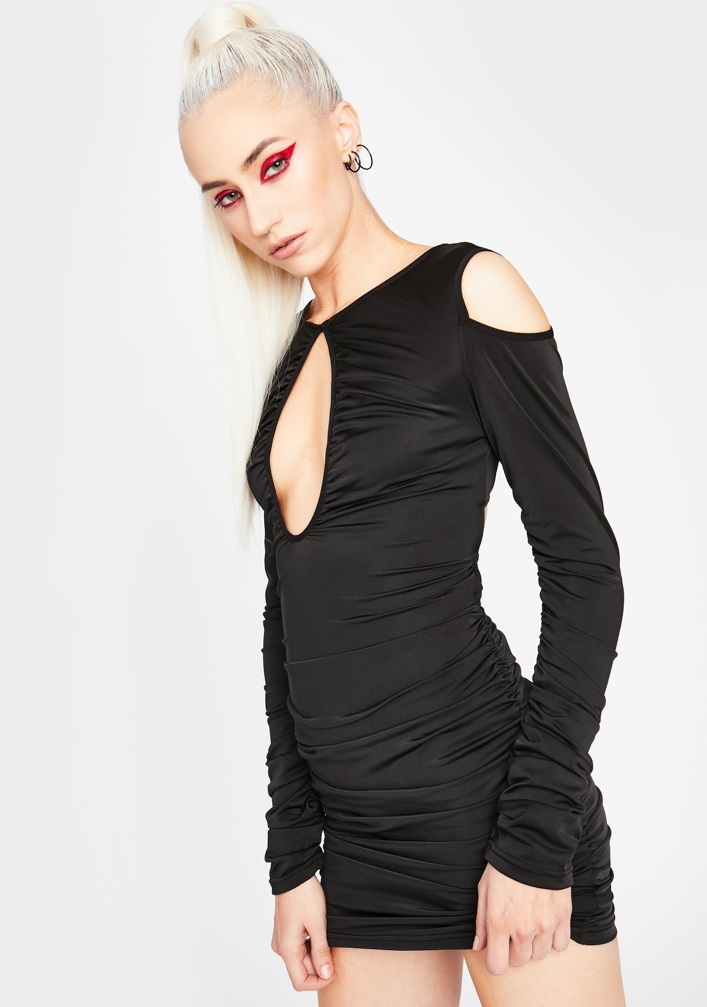 HOROSCOPEZ Too Confident Lace-Up Dress