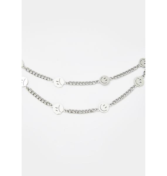 Mood Swingz Smiley Face Necklace