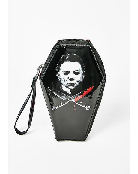 Michael Myers Glitter Coffin Wallet