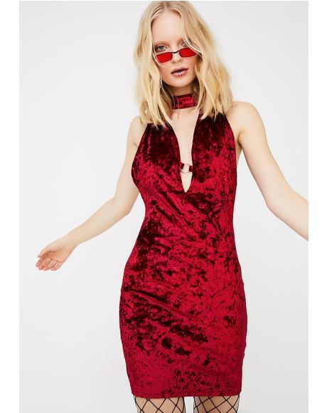 Rising Phoenix Velvet Dress