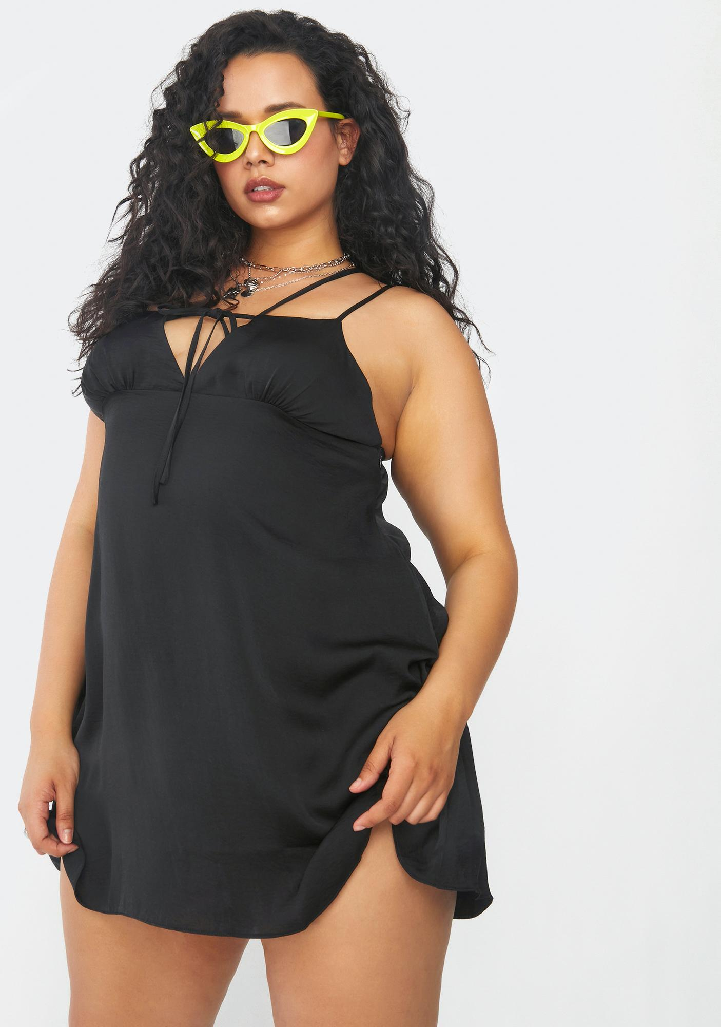 Current Mood There's Nothing To Regret Satin Slip Dress