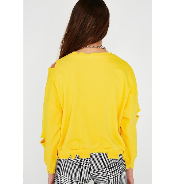 Bodak Yellow Distressed Sweatshirt