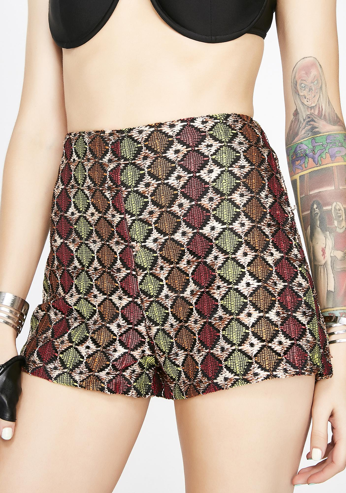 Down To Earth Crochet Shorts