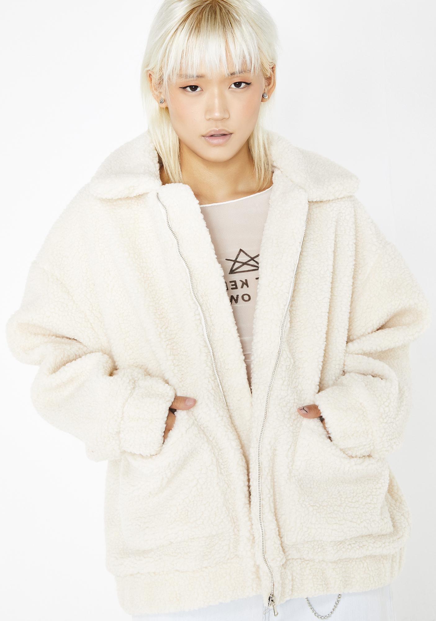 rock-bottom price purchase cheap more photos Cream Pixie Coat
