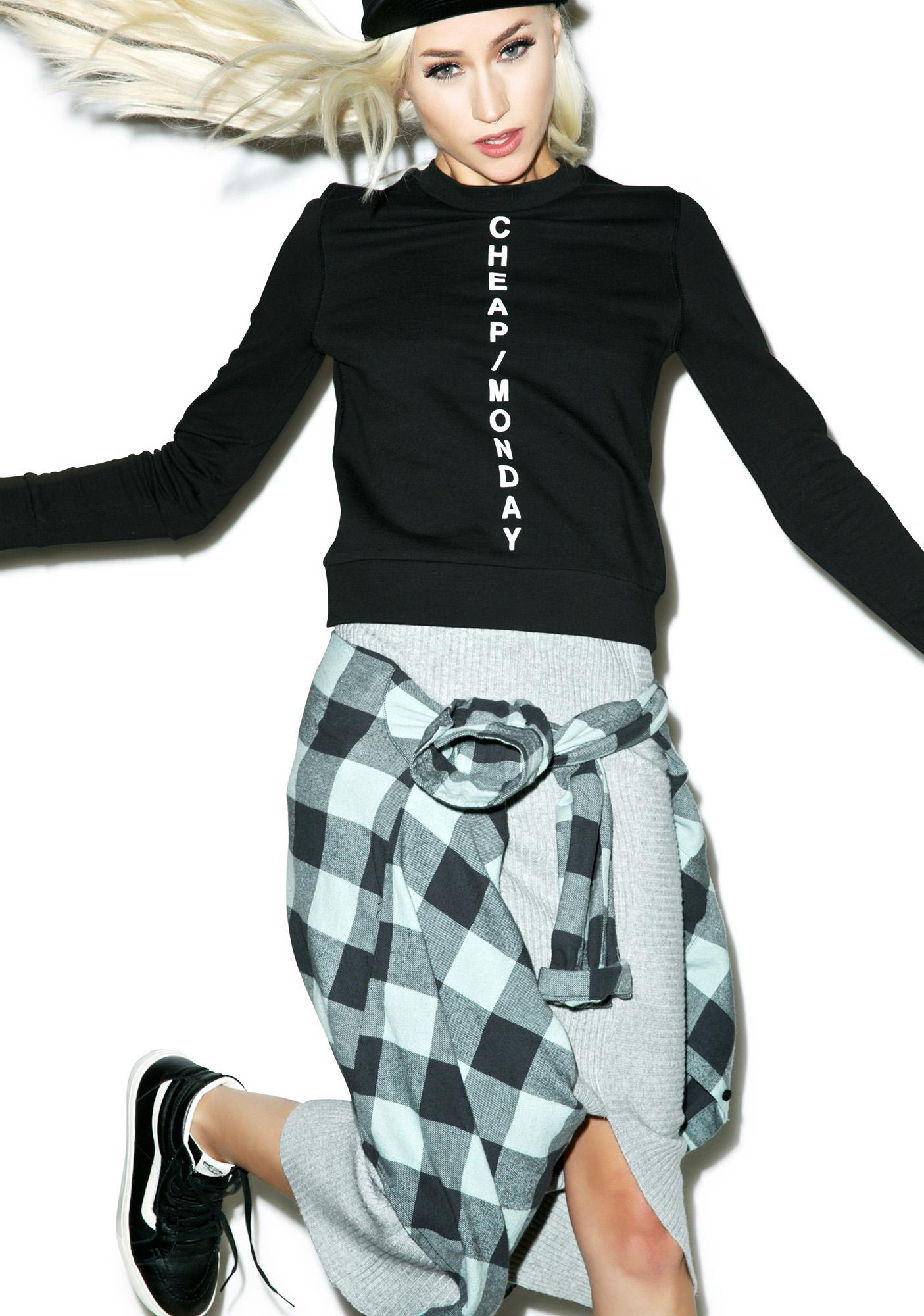 Cheap Monday Win Diagonal Sweat