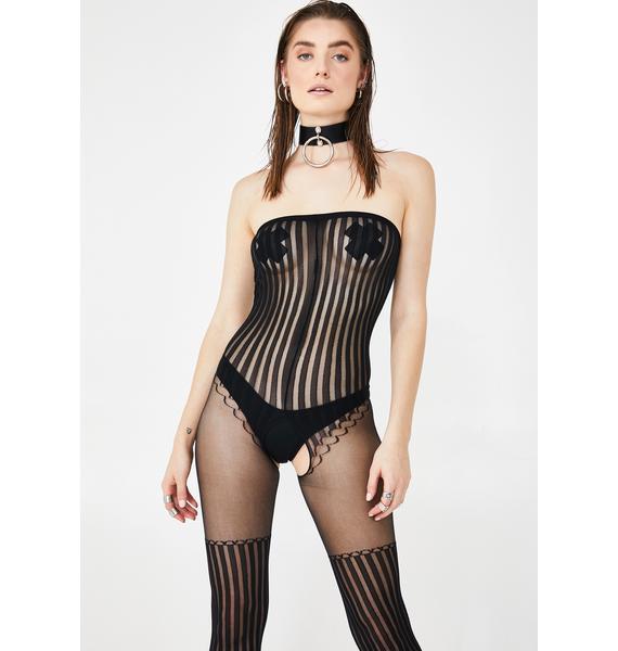 Sassy Circus Striped Bodystocking