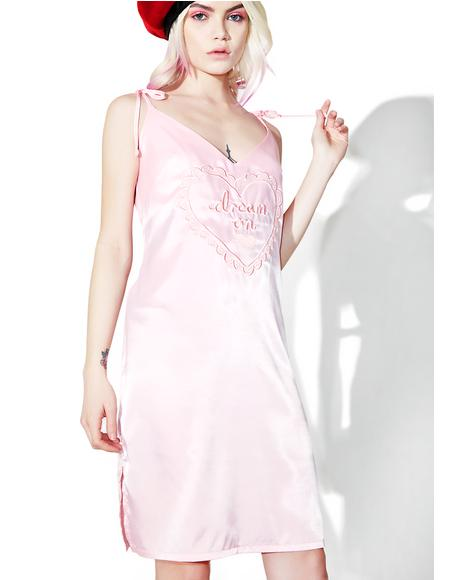 Dream On Satin Cami Dress