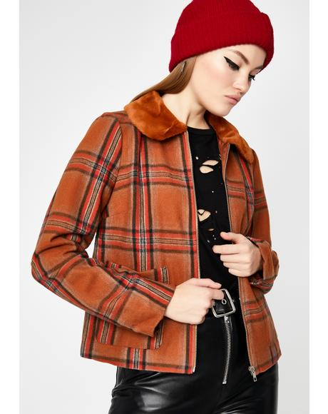 Rust Stack That Plaid Jacket
