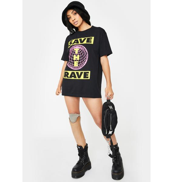 NEW FTR LDN Save The Rave Graphic Tee