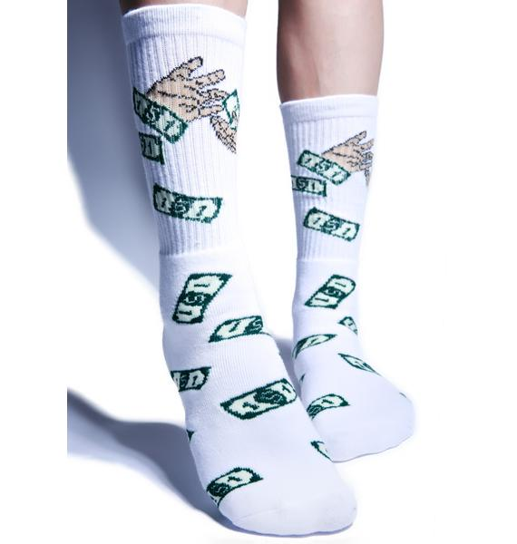 40s & Shorties Make It Rain Socks