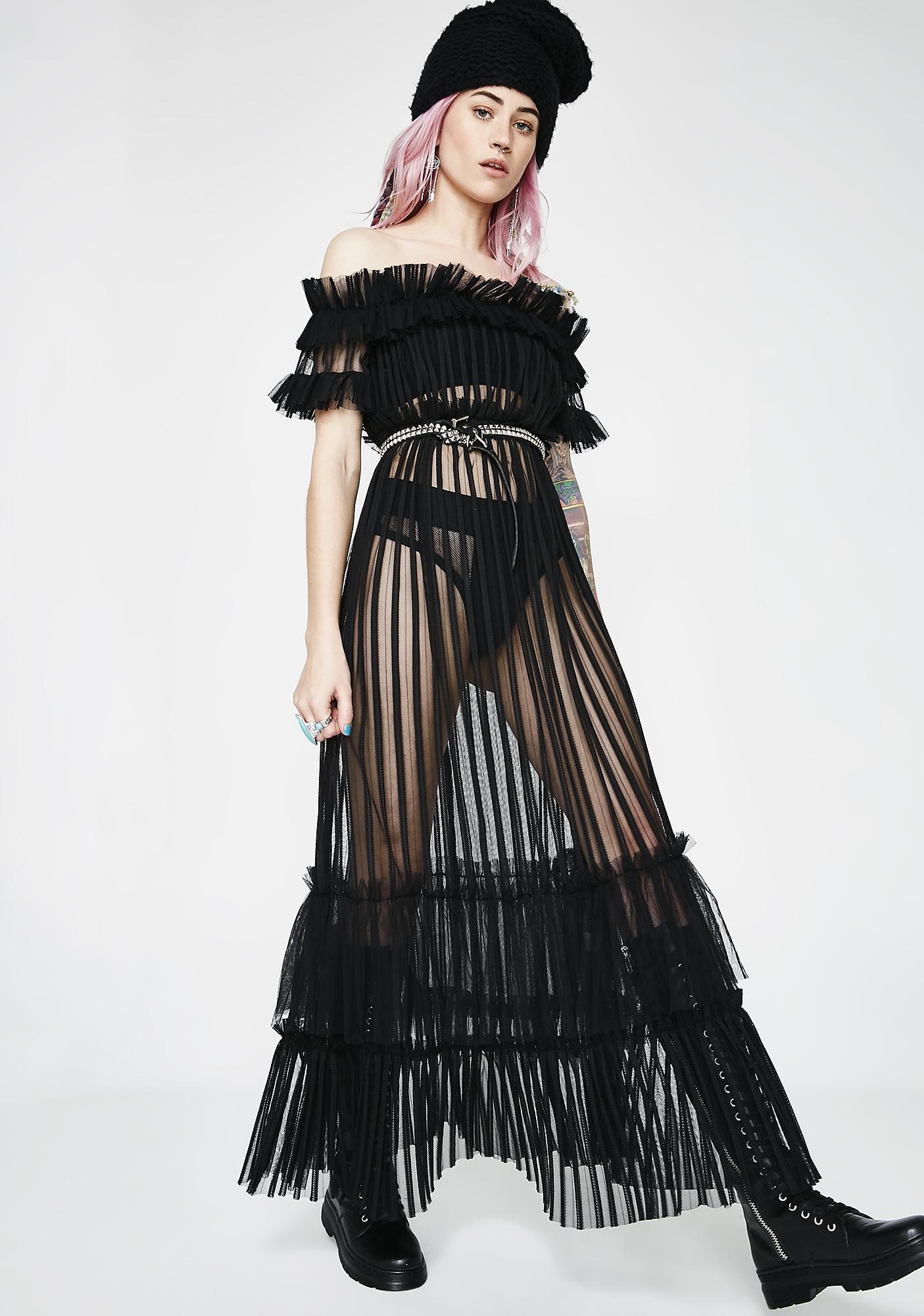 Dark Dazed Tulle Dress