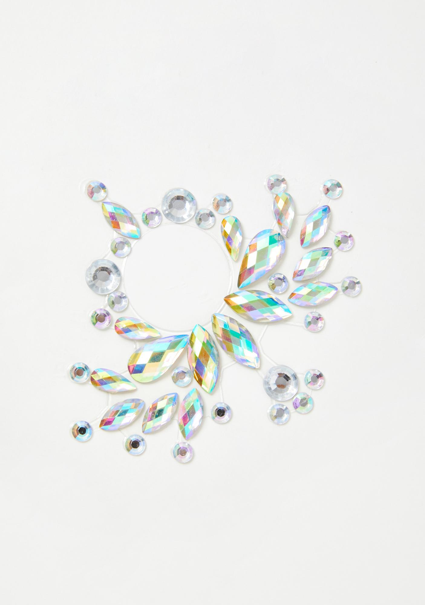 Lucite Sunburst Carnival Belly Gems