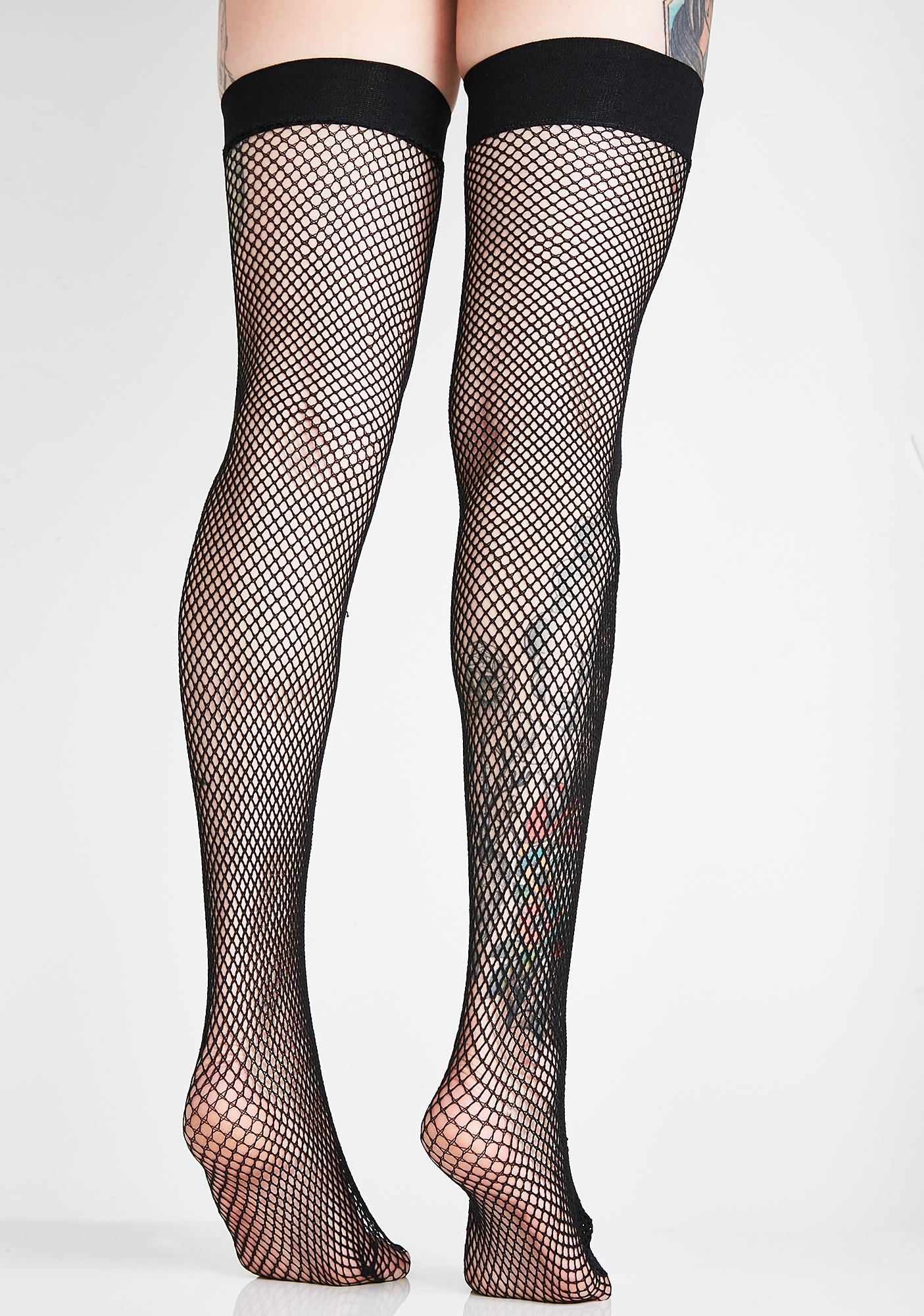 Groupie Luv Fishnet Thigh Highs