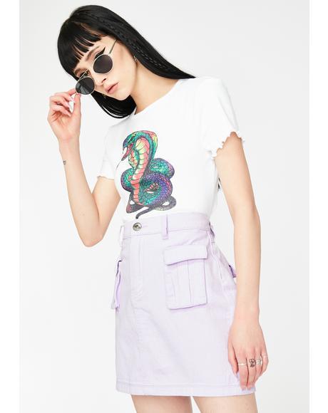 Lilac Cargo Mini Skirt