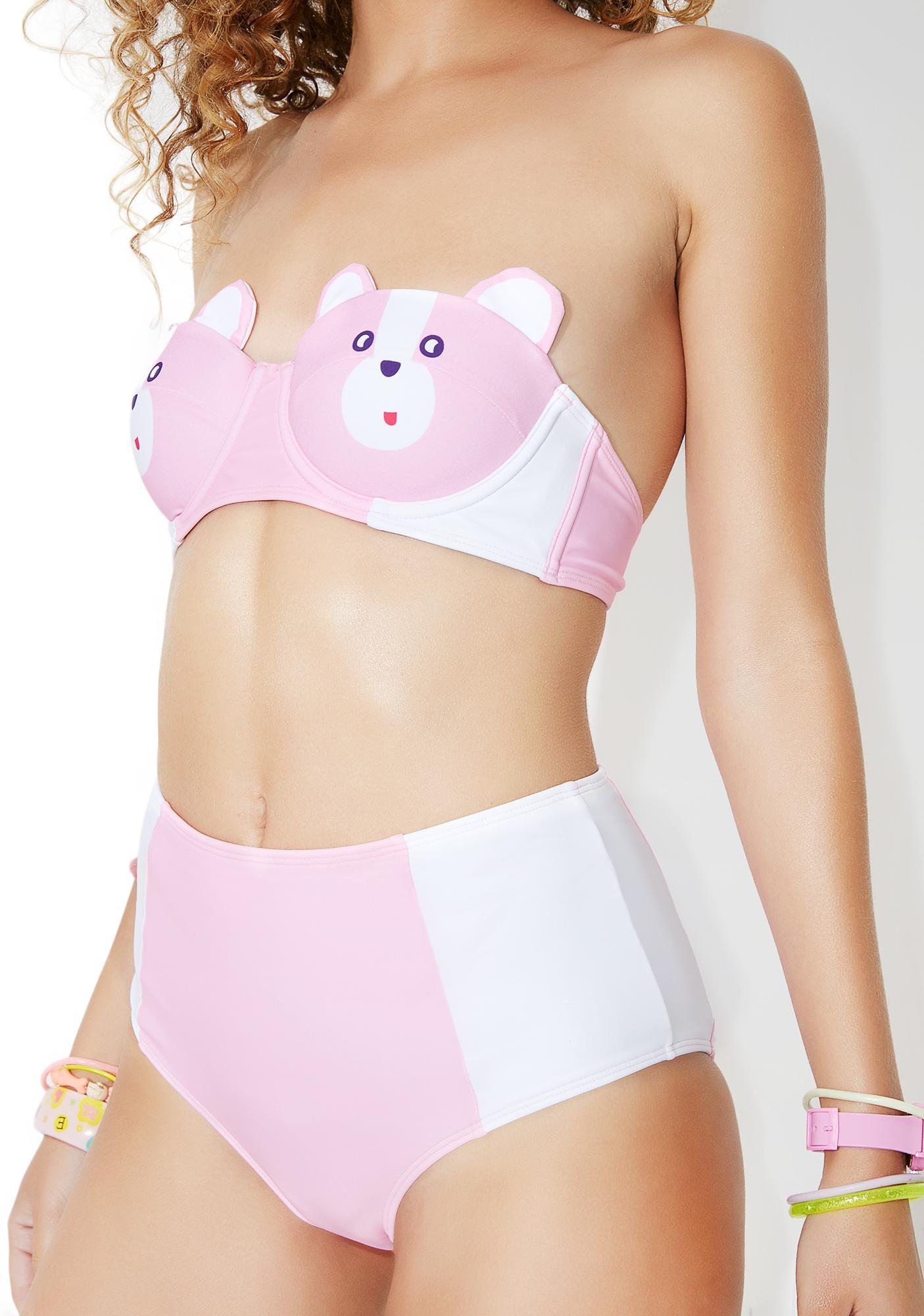 273a038339 Lazy Oaf Bear Boob Bikini Bottoms | Dolls Kill