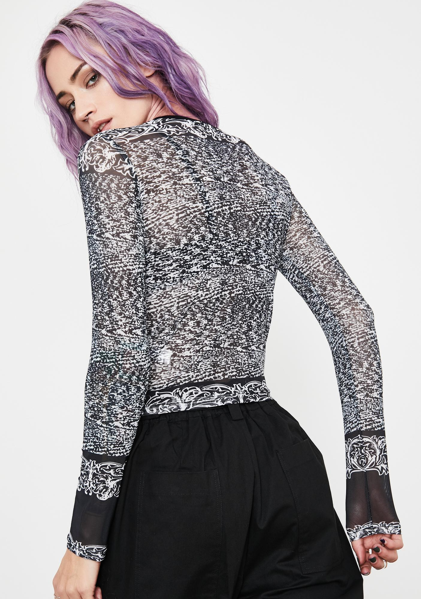 Current Mood Moral Malfunction Mesh Top