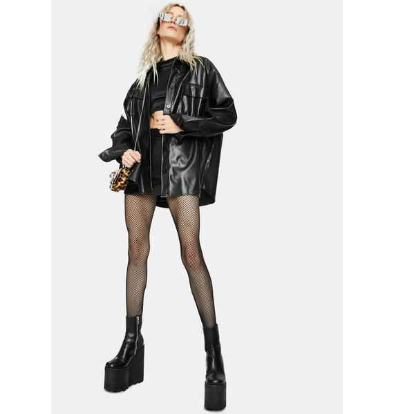Re Named Faux Leather Jacket