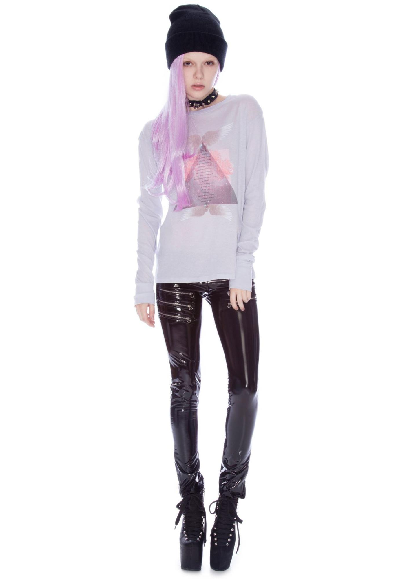 Wildfox Couture Love Spell Long Sleeve Crew Tee