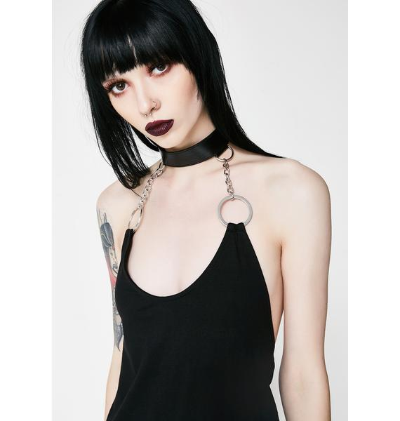 Disturbia Omega Halter Dress