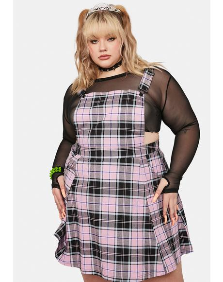 Plus Lindsay Plaid Pinafore Dress