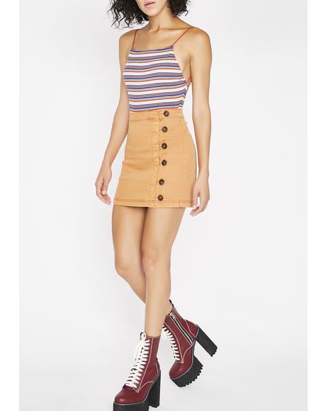 Side Step Mini Skirt