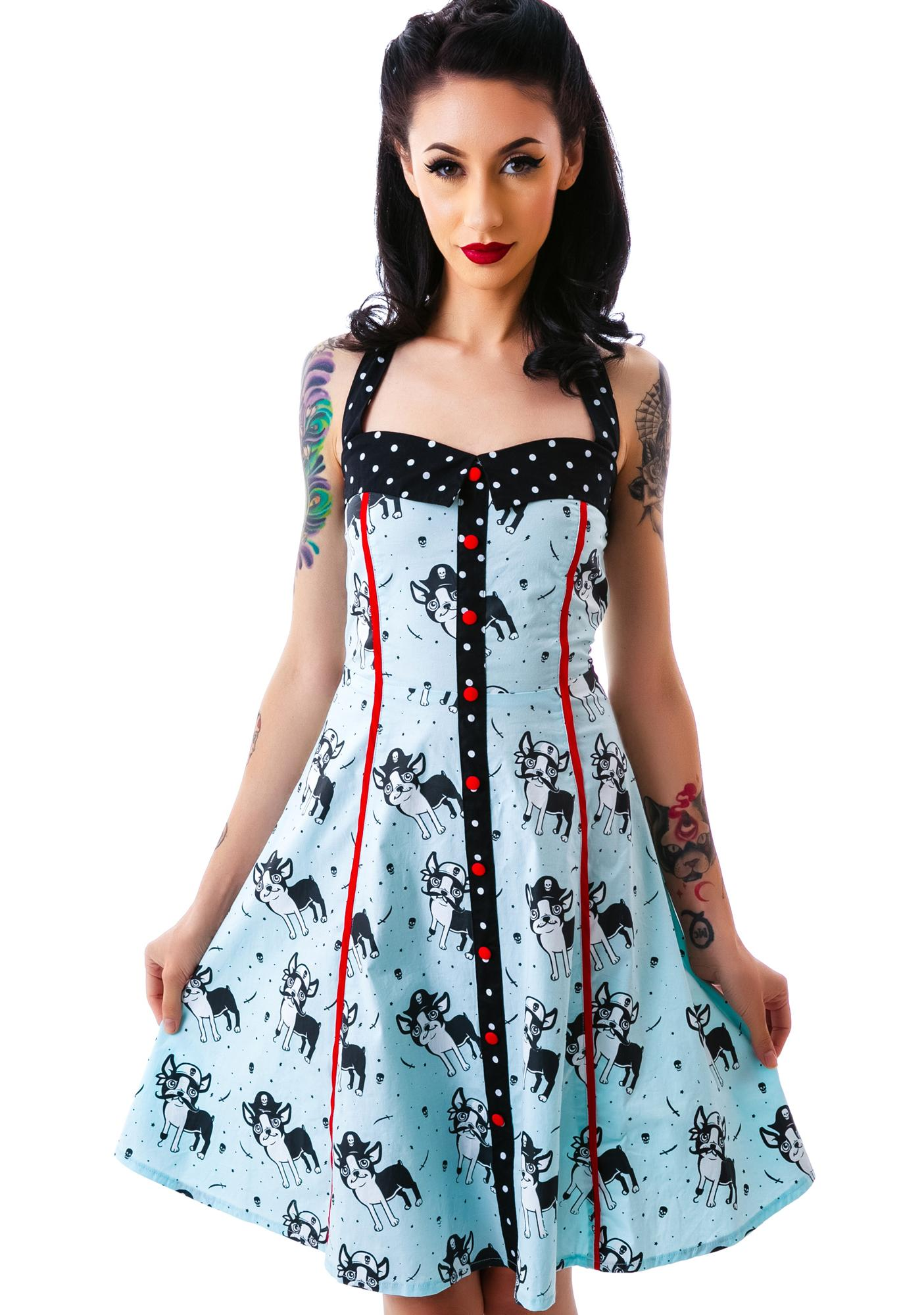 Sourpuss Clothing Peggy Puppies Dress