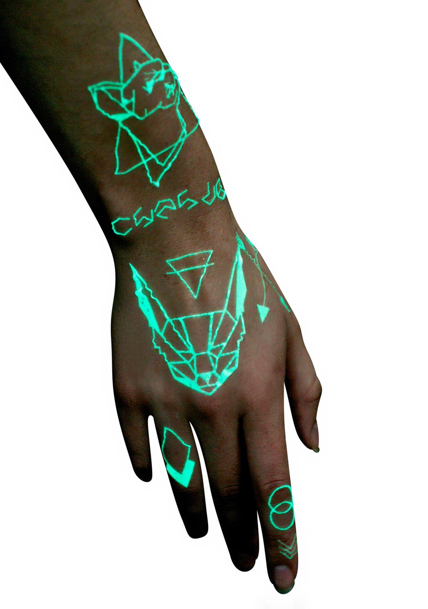 In Your Dreams Disco UV Temporary Tattoos