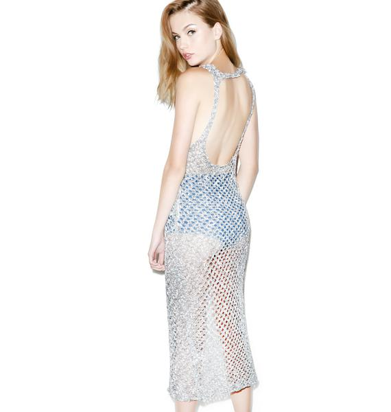 Somedays Lovin Storm Knit Split Maxi Dress