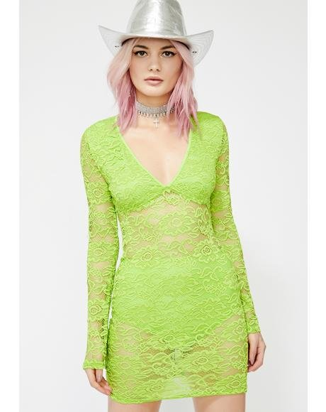 Go Go Glow Lace Dress
