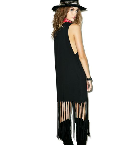 Disturbia Spirit Animal Fringe Dress