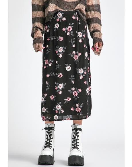 Erase And Rewind Midi Skirt