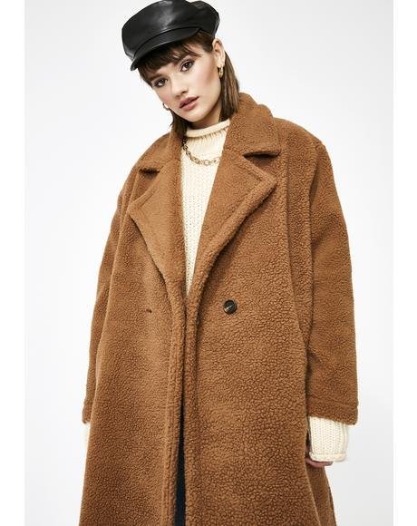 Fallin' For Fall Teddy Coat