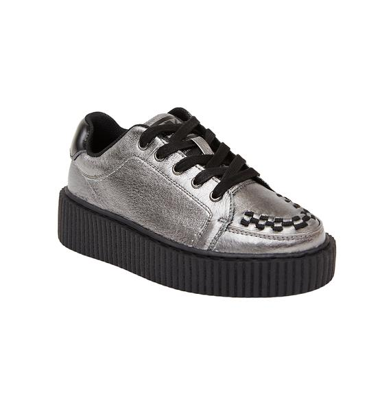 T.U.K. Graphite Leather Casbah Creeper
