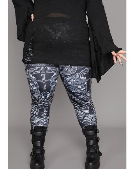 Deadly Catacomb Crypt Printed Leggings