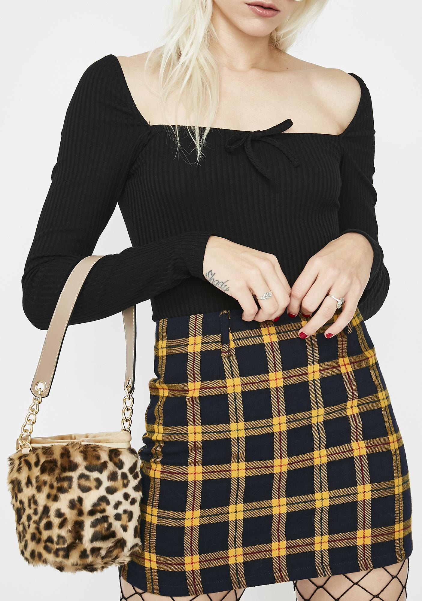 Leopard Lady Mini Bucket Bag