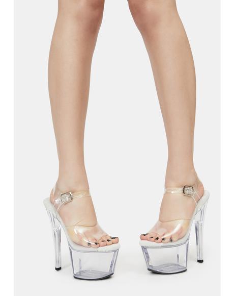 Girlfriend Experience Clear Platform Heels