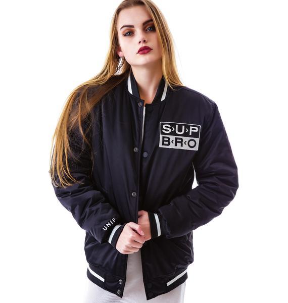 UNIF Sup Bro Bomber Jacket