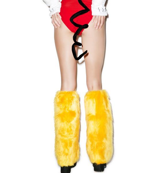 J Valentine Mellow Yellow Leg Warmers