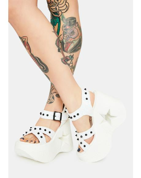 White Star Siren Platform Sandals