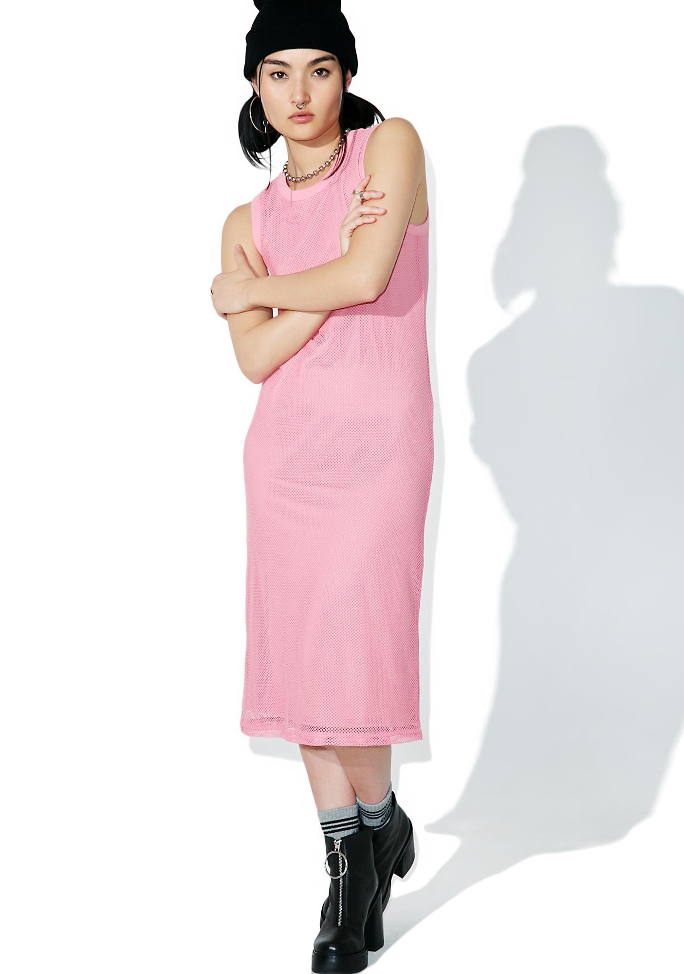 Stussy Pink Redondo Mesh Dress