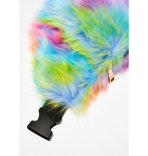 Trippy FurBae Rainbow Fanny Pack