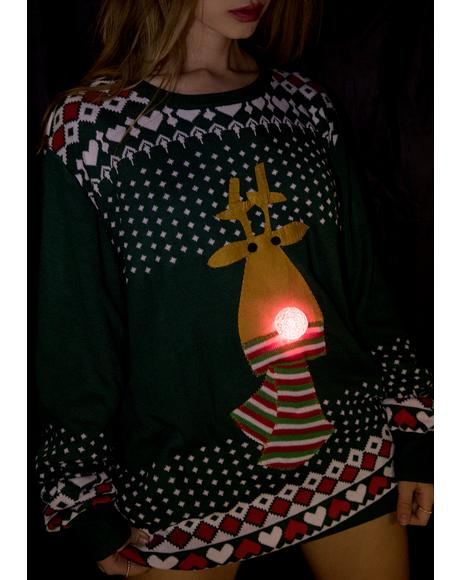 Rudolph's So Lit Light Up Sweater
