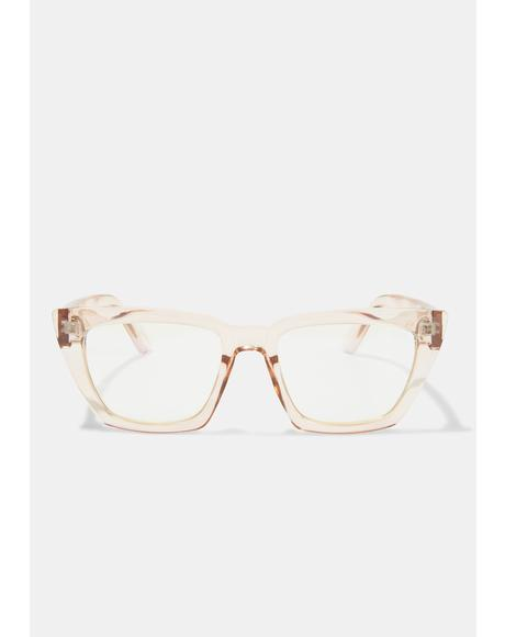 Amelia Taupe Blue Light Glasses
