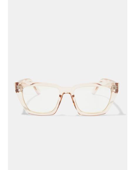 Amelia Taupe Blue Light Glasses