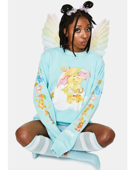 Raining Care Bears Crewneck Sweatshirt