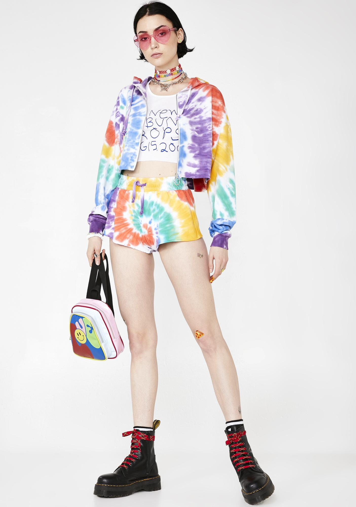Current Mood Trippy Delight Crop Hoodie